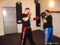 cvičení kickboxu